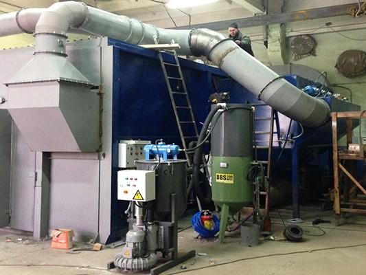 Промышленный агрегат для сборки абразива