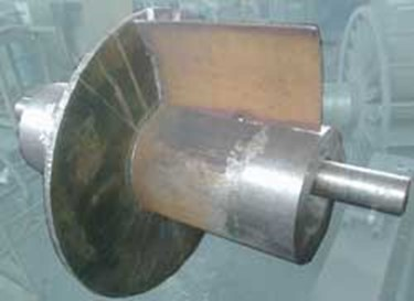 Наварка лопастей на роторе ВВН