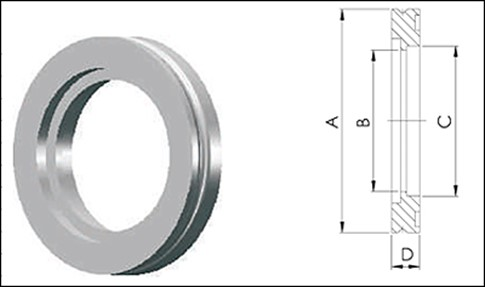 Фланец ISO 200 с отверстием