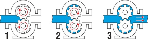 Принцип работы роторного насоса