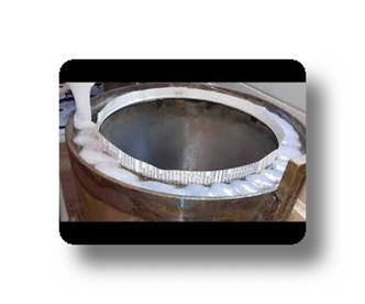 Залитие силиконом ободка верхней части вакуумной камеры