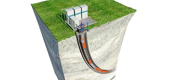 Пример установки для глубинной добычи нефти из скважины